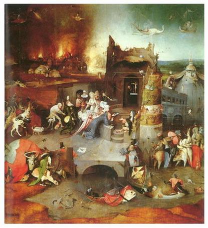Hieronim Bosch - Kuszenie Św. Antoniego